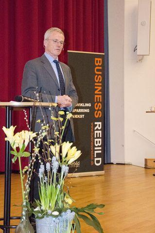 Anders Eldrup fortalte om de store udfordringer, verden står overfor. Men han kunne også fortælle, at vi har løsningerne lige om hjørnet.