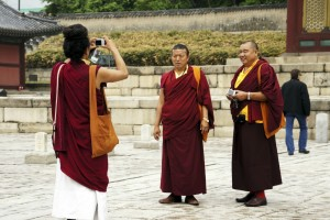 Tibetanske munke, Changdeokgung Palads