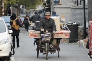 Flytning på cykel i hutong