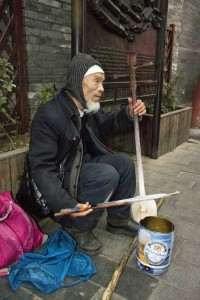Blind gademusikant