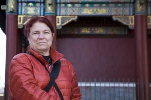 Helle-Karin Helstrand i Lama Temple