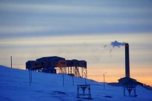 Edderkoppen - kulcentral ved Longyearbyen