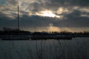 Hul i sky Aalborg Lystbådehavn