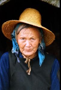 Kina 1995 - Kvinde med stråhat vistnok Dali
