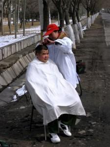 Klipning på gaden - Beijing 2010