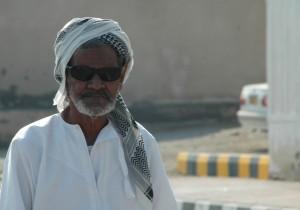 Muslim med solbriller Oman