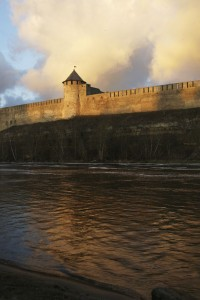 Narva Floden Hermann Castle Ivangorod Fortress
