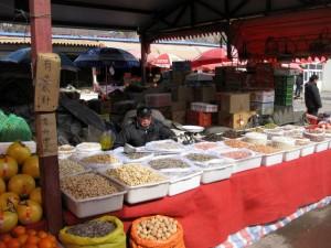 Nødder på marked - Beijing 2010