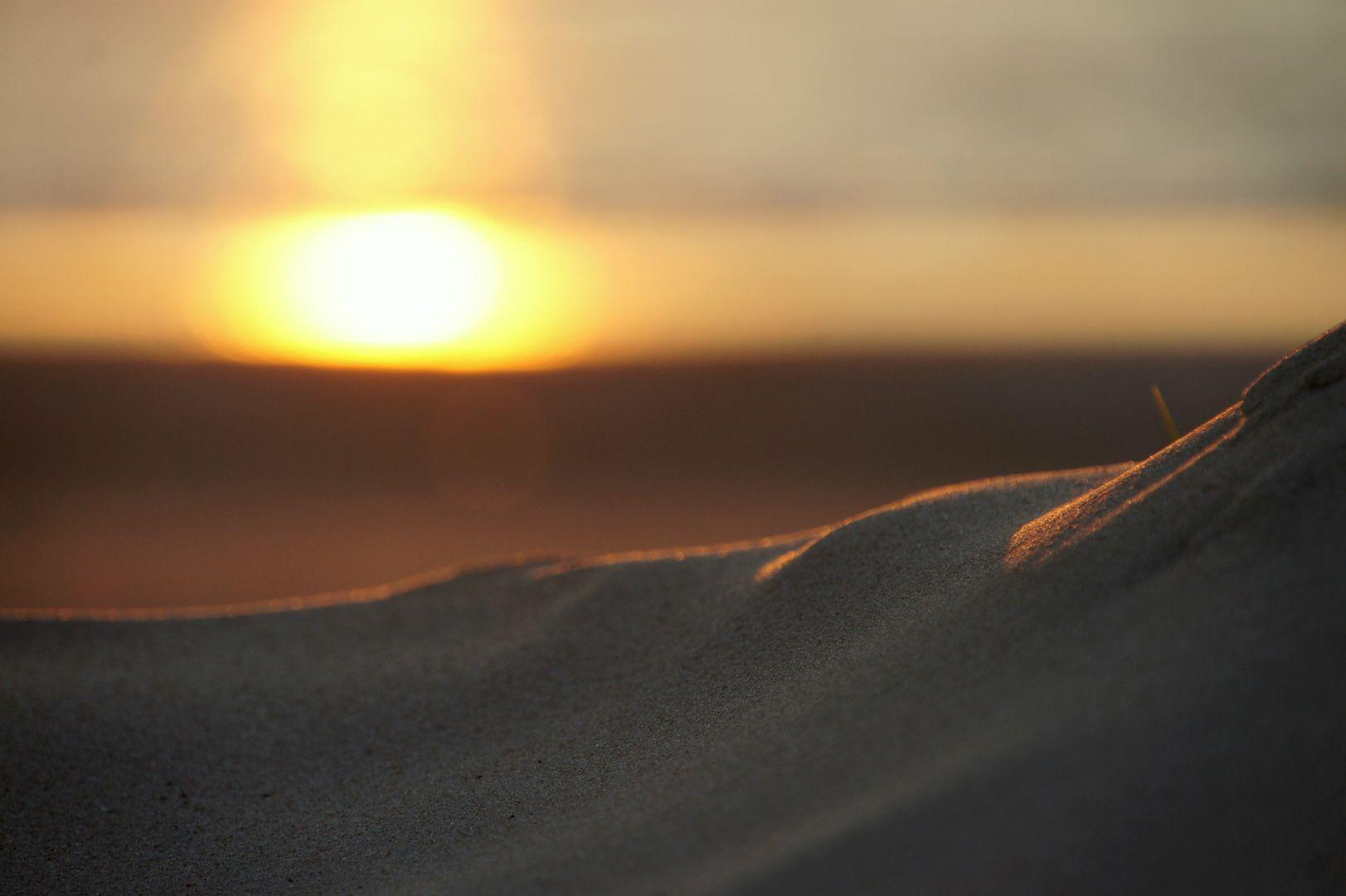 Solnedgang ved Rødhus Strand