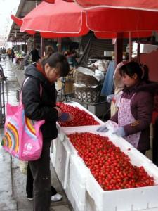 Tomater på marked - Beijing 2010