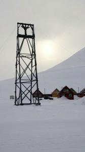 Tovbane til kulmine Longyearbyen