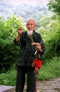 Yangshuo 1995 - Gammel mand med skæg