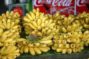 Bananer på marked i Bangkok