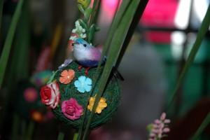 Blomsterkunst på marked i Bangkok
