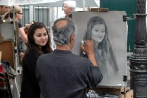 Kunstnere ved Montmartre