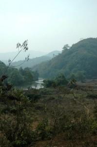 Landsby ved Kok-floden, Thailand