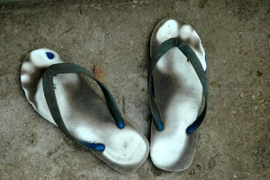 Munkens sandaler, Prae, Thailand