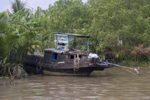 Båd i Mekong-deltaet