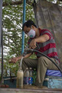 Flydende benzintank, Flydende marked /Floating Market, Can Tho, Mekong-deltaet