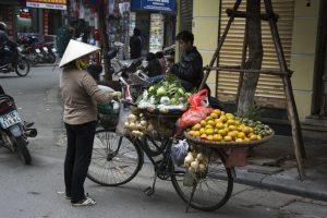Frugtbutik på cykel, Hanoi