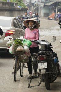 Grøntsager på cykel, Hanoi
