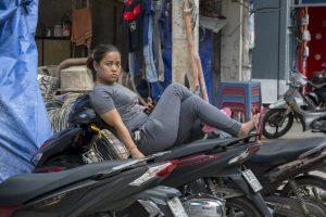 Afslapning på scooter, Ho Chi Minh Byen