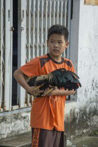 Fattigt kvarter i Can Tho i Mekongdeltaet