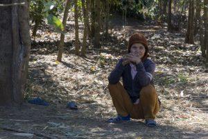 Kvinde fra det delvist matriarkalske Jarai-folk nær Kon Tum