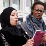 Rasha Khalife & Khadra Farah fra Enhedslisten holdt tale